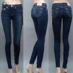 "True Religion ""High Rise Legging"" Jeans"